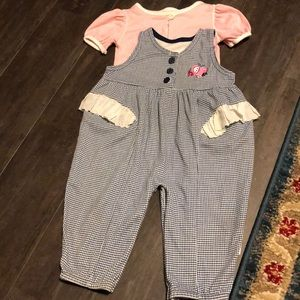 Vintage Health-Tex 18m ruffle apple romper set